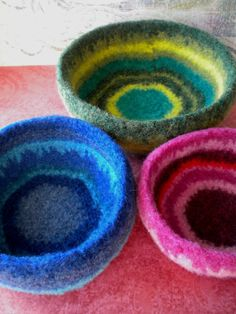 f e l t i n g b e a u t y. Our new hand dyed BFL fiber is ideal for making vessels like this: http://stores.ebay.com/Happy-Face-Decor/Blue-Face-Leicester-Top-/_i.html?_fsub=3634369011&_sid=229657161&_trksid=p4634.c0.m322