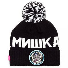 Mishka Throwback Adder Pom Beanie Black