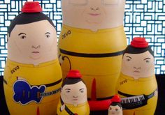 """nesting dolls  This is Spinal Tap  Australian artist Irene Hwang's Etsy shop Bobobabushka is full Russian """"Matryoshka"""" nesting dolls that bear the likeness of alt-cinema misfits from The Rocky Horror Picture Show, This is Spinal Tap, Ghost World, Heathers, cult BBC TV show The Young Ones and various troublemakers from the films of Wes Anderson and the Coen Brothers.   Hwang's customers even harassed her into making a nesting doll based on the lower-than-low-budget 1966 cult film, Manos: The…"""