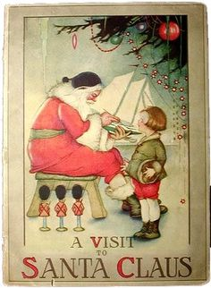 A Visit to Santa Claus. Illustrations by Margaret Evans Price (1919)