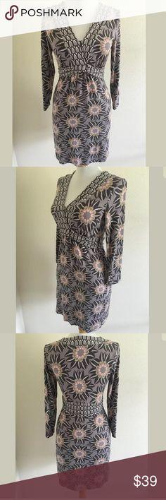 Boden dress SKU: SD14402  Length Shoulder To Hem: 33.5 Bust: 34 Waist: 27 Fabric Content: 95% viscose, 5% elastane Boden Dresses