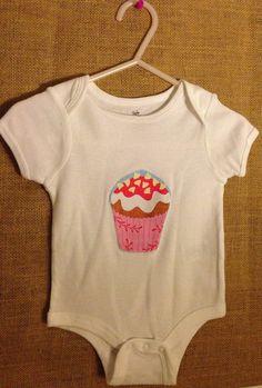 Cupcake onesie on Etsy, $9.99
