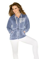 New York Giants Women's Full-Zip Sweater Mix Jacket - by Alyssa ...