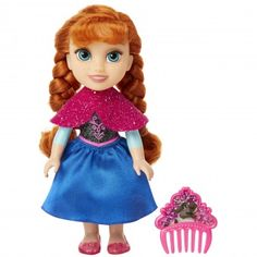 Disney Frozen Princess Anna Petite Doll with Glittered Hard Bodice and Comb Frozen Princess, Mermaid Princess, Disney Princess, Princess Anna, Red Hair Doll, Red Dolls, Barbie Dolls, Frozen Disney, Frozen Merchandise