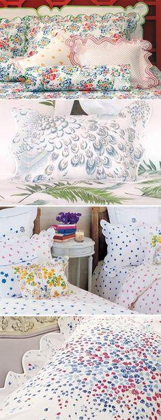 LOVE this bedding! D.Porthault Paris