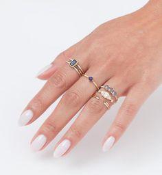 Sapphire Point Equilibrium Ring: Worn