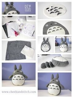 Diy totoro OMG that's all ! 👉🏽👉🏽A Totoro fan?Do you like these Totoro Crafts Ideas? for more Totoro Disegni? Cute Crafts, Felt Crafts, Diy And Crafts, Arts And Crafts, Simple Crafts, Baby Crafts, Craft Projects, Sewing Projects, Kawaii Diy