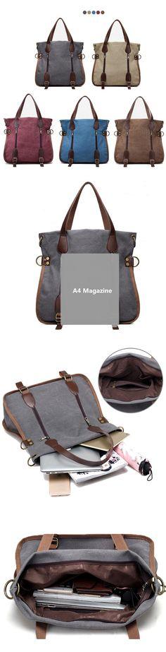 $ 22.67  Women Canvas Vintage Handbag Retro Shoulder Bag Schoolbag