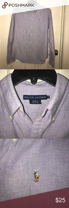 💲⬇️💜RALPH LAUREN💜Long sleeve Button Down Shirt EUC 💜RALPH LAUREN💜Purple Long sleeve Button Down Shirt. 100% Cotton. Slim Fit - Size 10 Ralph Lauren Tops Button Down Shirts