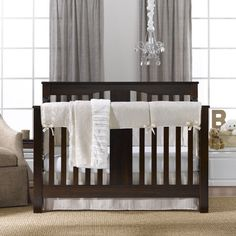 This beautiful ivory Toscana linens bumperless crib bedding set is an elegant addition to any gender neutral nursery. Available as set or separates. Nursery Bedding Sets Girl, Black Bed Linen, Baby Furniture, Children Furniture, Nursery Neutral, Cool Beds, Crib Sheets, Bed Design, Linen Bedding