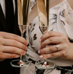 SHOW IT WITH A TOAST Beautiful Wedding Rings, Champagne Flutes, Designer Engagement Rings, Wedding Trends, Hand Henna, Wedding Couples, Ring Designs, Bridal Jewelry, Rings For Men