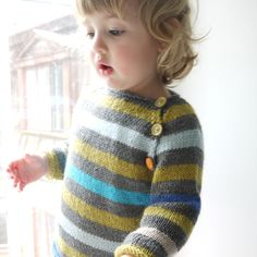 Stripey Rolling Edges Sweater   Love the colours!