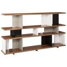 TOO by Blu Dot Stories Horizontal Bookcase - White/Black/Walnut