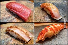 Some of my favorites from one of the best sushi restaurants in Japan