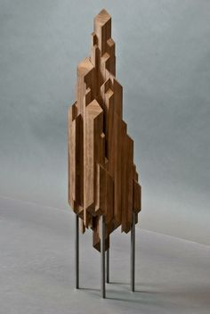 Topless, bottomless sculpture by Anthony Peer, who seeks the tension in between