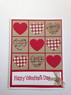 Stampin' Up! Tic Tac Toe Hearts Valentine's Day Card Kit