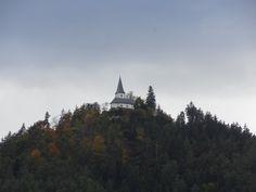 Der Herbst färbt die Bäume des Georgiberges Landscape, Autumn