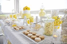 Yellow white theme clean christening baptism