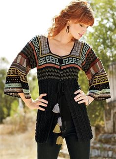 GORGEOUS jacquard cardigan (HOOK + SPOKES). Discussion on LiveInternet - Russian Service Online Diaries