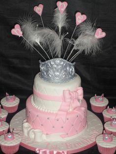 Princess cake with Tiara cupcakes :)