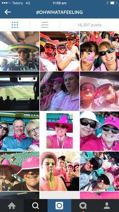 Pink day at cricket