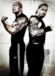 The Rock  Roman Reigns...WWE you know how to keep me watching.