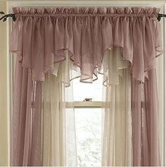 De lujo voile cortina cenefa de doble triángulo de la intersección ...