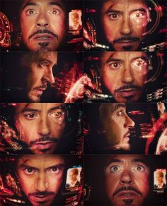 Iron Man - Tony Stark// I just notice that he tried not to see Pepper's photo, I'm sure it was because by seeing her he would remember what he lives for....For her