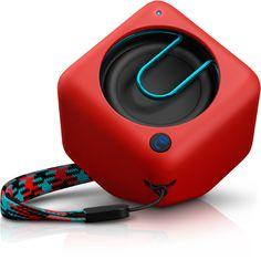 Mini altavoz bluetooth de Philips en color rojo #altavoz #altavozportatil #philips #altavozbluetooth