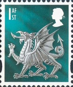 Welsh Dragon stamp, 2009