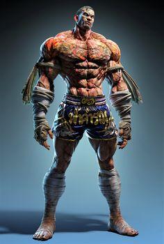 Game Character, Character Concept, Concept Art, Fantasy Art Men, Fantasy Warrior, Street Fighter Characters, Fantasy Characters, Muay Thai, Tekken Wallpaper