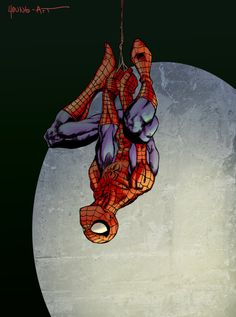 Spider-man Hanging by *Young-Art