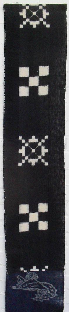 Japanese  fabric  antique indigo Egasuri 19th/ 20th Century Meiji period.(1860 -1912)   collectors item