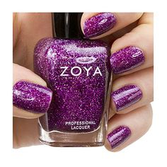 "Zoya Nail Polish ZP646  ""Aurora""  Purple Plum Holographic Nail Polish 