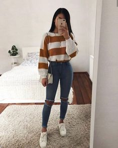 37 Most Trending Spring Teenage Outfits Ideas - Fashionnita Cute Casual Outfits, Simple Outfits, Stylish Outfits, Casual Outfits For Teens Summer, Fall Outfits For Teen Girls, Stylish Clothes, Tumblr Outfits, Mode Outfits, Grunge Outfits