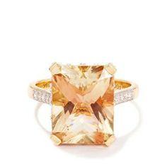 Lehrite & Diamond 18k Gold Lorique Ring MTGW 7.34cts