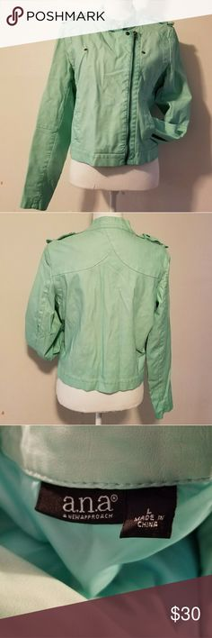 a.n.a. Jacket Light jacket. Not real leather Great detail a.n.a Jackets & Coats