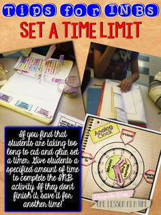 Tips for interactive notebook…setting time limits.