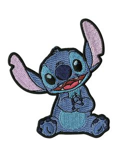 Disney Lilo & Stitch Stitch Iron-On Patch,