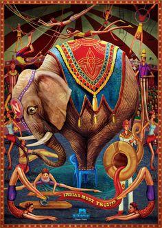 Campagne de publicité - Les chaises en plastique Nikamal - illustrateur Nishikant Palnde - 2011