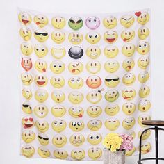 Can you imagine it at home...? Emoji Wall Tapestry  Let's enhance your home decor with this incredible tapestry!  Check it out here: http://mandala-the-wall-tapestry-cave.com/products/emoji-wall-tapestry?utm_campaign=social_autopilot&utm_source=pin&utm_medium=pin