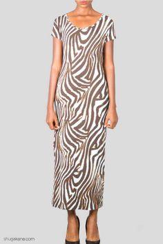 Short Sleeve Dresses, Dresses With Sleeves, Zebra Print, Online Shopping, Light Blue, Cold Shoulder Dress, Brown, Fashion, Moda