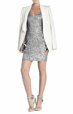 Morris V-Neck Deco Sequined Dress | BCBG - for NYE?