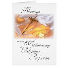 Nun 60th Anniversary of Religious Life, for a Nun Card