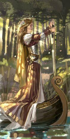 Lady of shalott by Aly Fell.