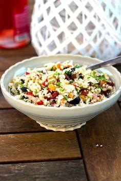 As Minhas Receitas: Salada de Couve Flor com Frutos e Legumes