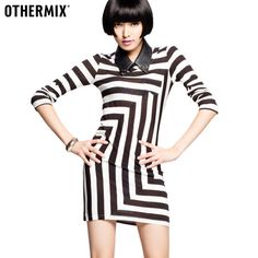 The black and white striped dress