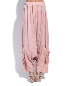 Look what I found on #zulily! Light Pink Linen Palazzo Pants #zulilyfinds