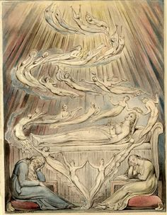 William Blake 'Queen Katharine's Dream', illustration to 'Henry VIII' 1809 - Category:Catherine Parr - Wikimedia Commons William Blake Paintings, William Blake Art, Catherine Parr, Dream Illustration, Oil Painting Reproductions, Dark Souls, British Museum, Ancient Art, Art History