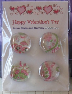 Glass Magnet (fun and easy to make) Valentine Crafts, Happy Valentines Day, Glass Magnets, Craft Show Ideas, Diy Projects To Try, Diy Crafts, Crafty, Creative, Fun